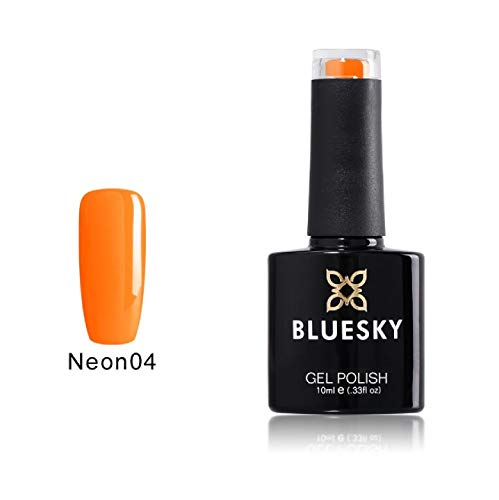 Bluesky Gel-nagellak, Neon 4, oranje, 10 ml