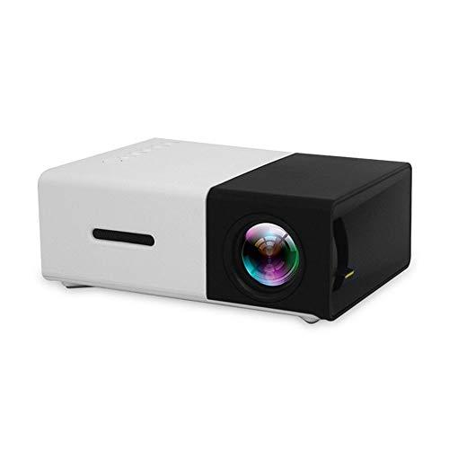 Mini Projector Projector Portable ondersteuning 1080P HD 3D Audio Visuele effecten kunt u via Mobile Power, met 3 in 1 AV-kabel Ideaal voor Home Entertainment Party Games,Black