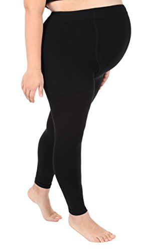 Absolute Support Compression Maternity Leggings Over The Belly Graduated Footless Compression Stockings Maternity Tights 20-30mmHg Firm Support - Size Large, Black A718BL3