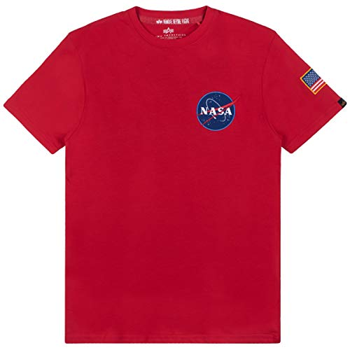 ALPHA INDUSTRIES - Camiseta para Hombre Speed Red L