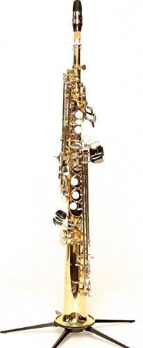 Original SYMPHONIE WESTERWALD DESIGN Sopransaxophon/Sopran Saxophon, Gold/Silber, inkl. Luxus-Hartschalenkoffer und Zubehör, Neu