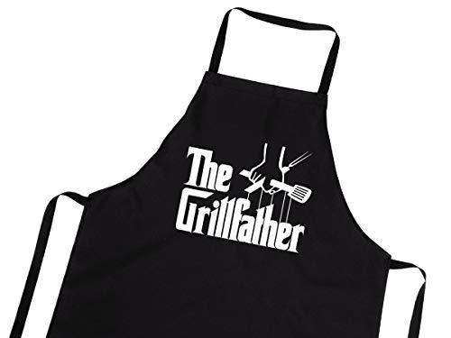 Divertido Delantal para barbacoas para Hombres y Mujeres Delantal de Cocina con diseño Cocinar Delantales de BBQ El Padre asador [106]