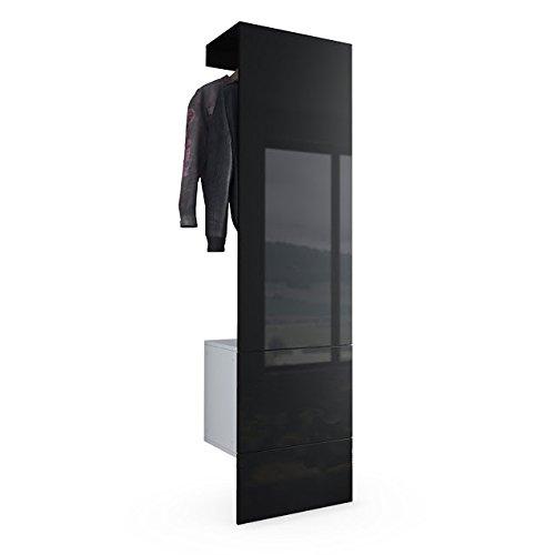 com/ò di design bianco e nero lucido Credenza moderna Skate mobile soggiorno sala entrata