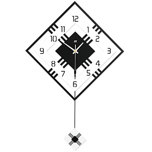 GFDDZ Reloj de Pared Decorativo Reloj Cologado con Mecanismo Silencioso Decoración para Habitación Dormitorio Oficina Bar (Negro)