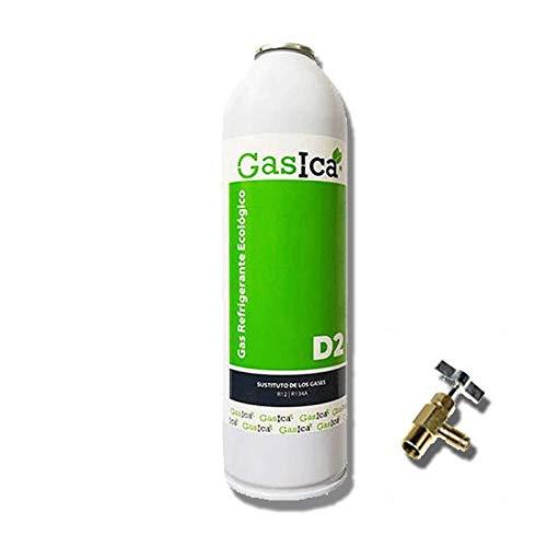 REPORSHOP - 1 Botella Gas Ecologico Gasica D2 312G + Valvula