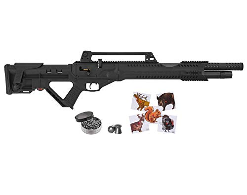 Wearable4U Hatsan Invader Auto .25 Cal Air Rifle with Included 100x Paper Targets and 150x .25cal Pellets Bundle