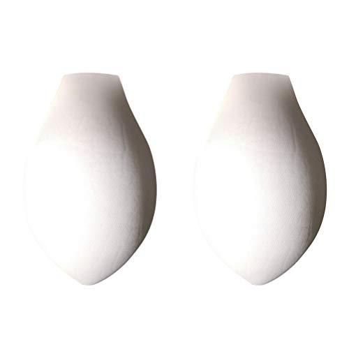 Fenical Badebekleidung Vergrößern Penis Pouch Pad 3D Badehose Schwimmen Kurze Shorts Unterwäsche Pad 4 stücke (Weiß)