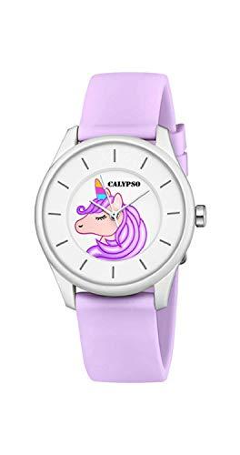 Calypso Reloj niño/a - Sweet Time K5733/B - Unicornio - Blanco y Malva