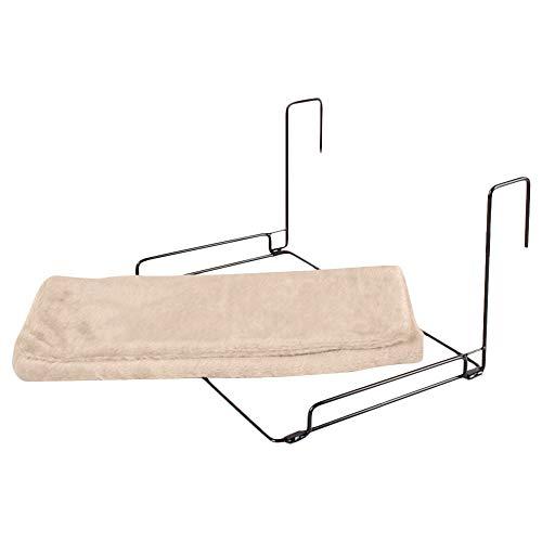 ZZM Cama de radiador de Gato, Silla de Hamaca Colgante para Gato, Canasta Caliente, Cuna, Hamaca, Marco de Metal Resistente y Duradero portátil y Cubierta de vellón cómoda