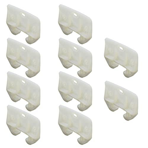 YARNOW 10 Unidades de Guías de Cajones de Plástico Guías de Seguimiento de Cajones Piezas de Repuesto de Muebles para Vestidores Sistemas de Cajones