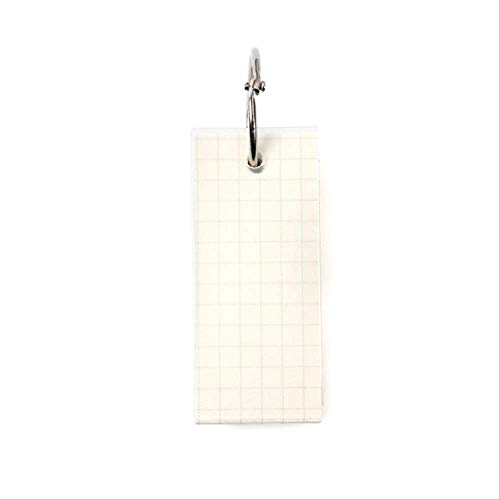 WSGYA Mini Loose-Leaf Notebook Cute Ring Buckle Tearable Notepad Notepad Without Sticky 3x7x2.1cm Square
