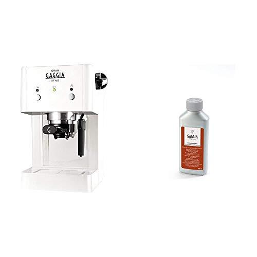 Gaggia RI8423/21 Grangaggia Style, Bianco + RI9111/60 21001681 Soluzione Decalcificante, 250 ml