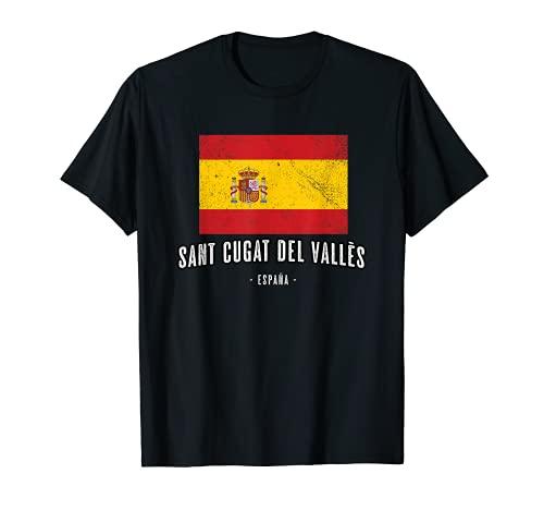 Sant Cugat del Vallès, España | Souvenir Ciudad - Bandera - Camiseta