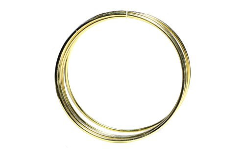 Bistore - Set of 5pcs Gold Dream Catcher Metal Hoops, (Dream Catcher Metal Rings) (14-inch gold)