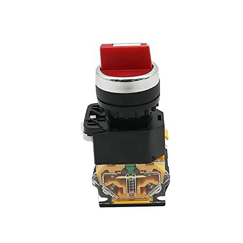 LGFCOK SELECTOR DE SELECTOR DE 22MM Interruptor rotatorio Plaqueamiento momentáneo 2NO 1NO1NC 2 3 Posición DPST 10A 400V Interruptor de alimentación EN/Apagado