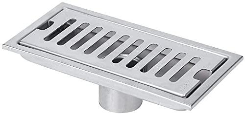 Lusun Desagüe de suelo de ducha de acero inoxidable, desagüe para baño, ducha, cocina, filtro de pelo (B)
