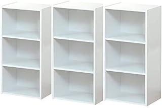 カラーボックス 収納ボックス 3段 3個セット (ホワイト)
