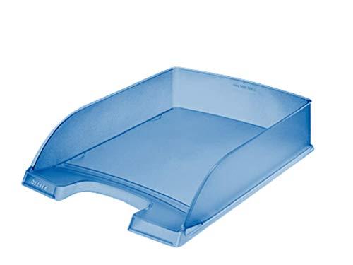 Leitz - Vaschetta portacorrispondenza formato A4, 5 pezzi, colore: Blu ghiaccio