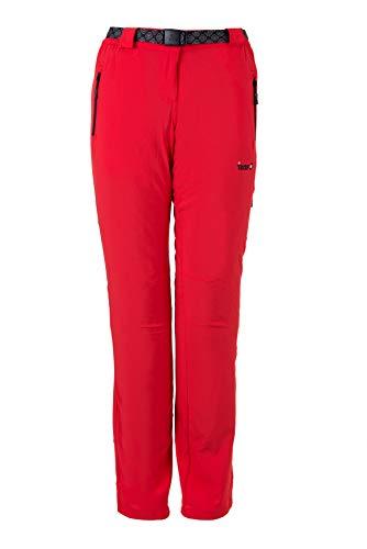 IZAS CRIS Pantalon de Trekking Femme, Rouge, FR (Taille Fabricant : XS)