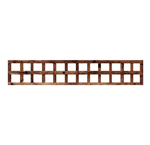 weatherwell ltd Square Garden Trellis Panels Pressure Treated Timber Garden Brown Wooden Trellis 6ft (6ft x 1ft)