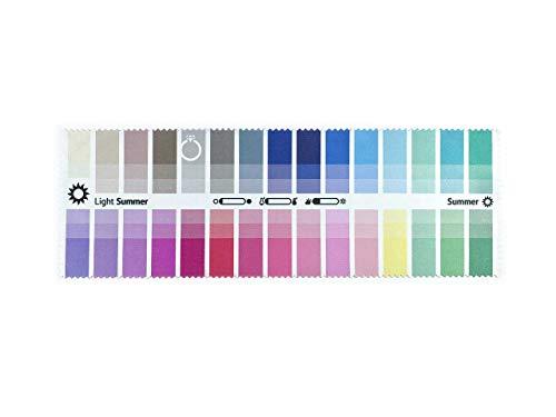 Stoff-Farbpass Sommer (Light Summer) mit 30 typgerechten Farben zur Farbanalyse, Farbberatung, Stilberatung