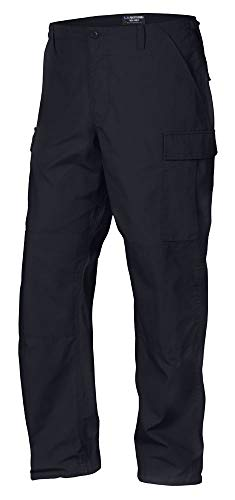 LA Police Gear Men Rip-Stop Mil-Spec BDU Button Fly Tactical Pant - Navy - Extra Large/Long