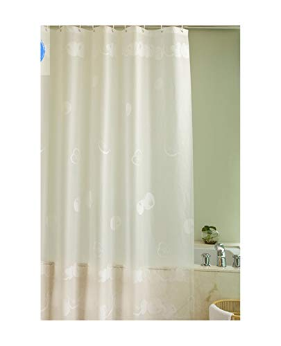 MaxAst Duschvorhang Anti Schimmel Weißer Apfel Duschvorhang Polyester Weiß Badewanne Vorhang 120x200