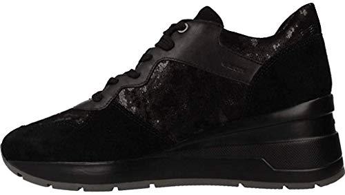 Geox Damen Laufschuhe, Farbe Schwarz, Marke, Modell Damen Laufschuhe D828LC Schwarz