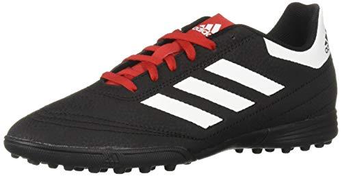 adidas Unisex-Kid's Goletto VI Turf Football Shoe, Black/White/Scarlet, 5.5 M US Big Kid