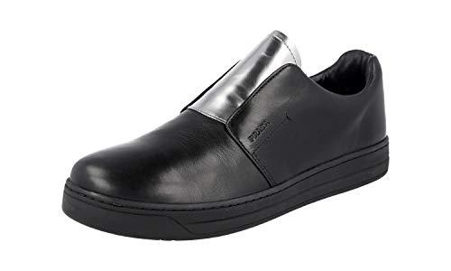 Prada Damen Schwarz Leder Sneaker 3S6047 38.5 EU