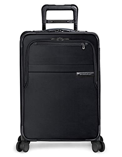 Briggs & Riley Baseline-Softside CX Expandable Carry-On Spinner Luggage, Black, 22-Inch