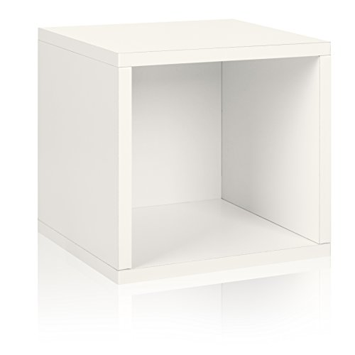 Way Basics Eco Stackable Storage Cube and Cubby Organizer, White (made from sustainable non-toxic zBoard paperboard)