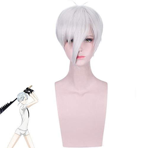 Peluca de tierra de la lustrosa antrtica Cosplay disfraz Houseki no Kuni hombres mujeres pelo corto sinttico fiesta juego de roles pelucasPL-188