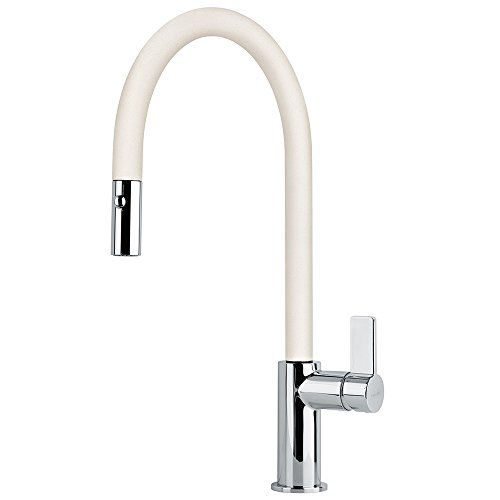FRANKE Cream Kitchen Sink tap Made of Granite (Fragranite) spout Ambient Pull 115.0289.520
