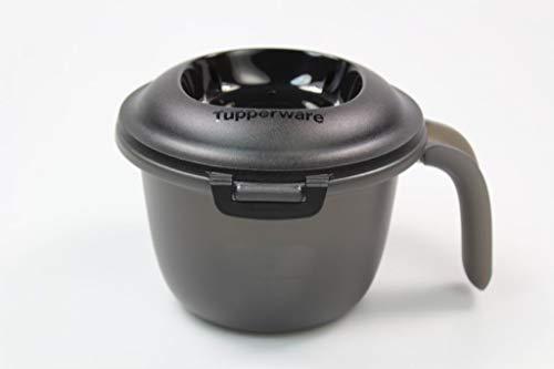 Tupperware Mikrowelle Junior-Reis-Meister 550 ml schwarz/weiß Reiskocher +SPÜLTUCH 37897