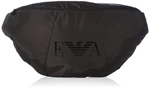 Emporio Armani Swimwear Maxi Sling Bag Monogram, Donna, Nero, Taglia Unica