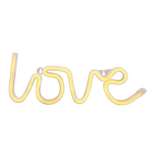 Dream Master Light Up LED Love Night Table Light Sign Wall Home DecorationBattery Operated, Lighting for Bedroom,Living Room,Party, for Kids, Warm White