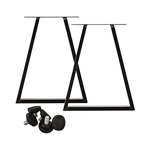 LIYANLCX Paquete de 2 Patas de Mesa de Metal Industrial, Patas de Escritorio de Hierro, Muebles, decoración, Patas para café, Mesa de Comedor de 28 Pulgadas de Altura (Negro)