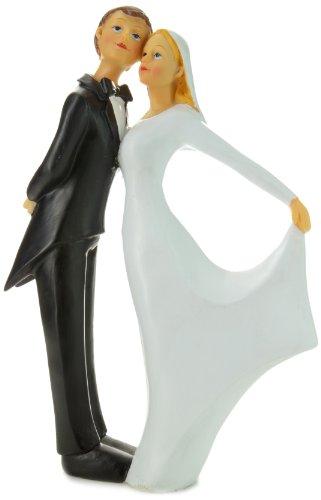 Jullar TG 135 taartdecoratie dansend bruidspaar - bruidsjurk met lange mouwen
