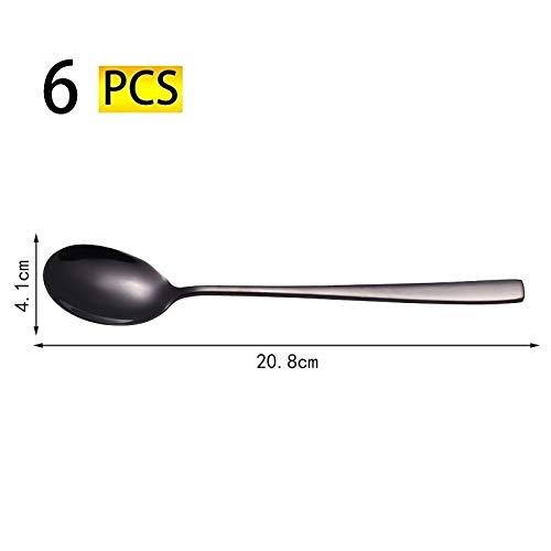 Preisvergleich Produktbild 6-teiliges Besteckset Besteckset aus Edelstahl mit Essgabel