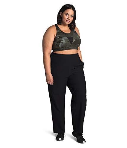 The North Face - Pantalón de talle alto para mujer, color negro, 2X-Regular
