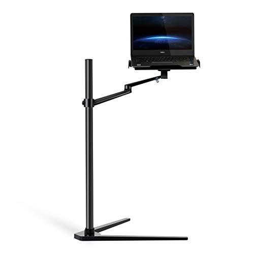 Thingy Club 3-in-1 Laptopständer für iPad Pro (12,9 Zoll) / iPad Air / iPad Mini / andere Tablets und Smartphones mit 4 bis 14 Zoll und Laptops mit 12 bis 17 Zoll Schwarz