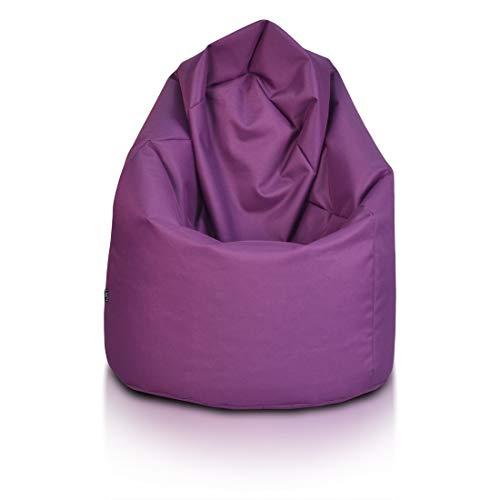 Ecopuf Sitzsack L - Outdoor und Indoor Bean-Bag aus Polyester mit Anti-Verlust Reißverschluss