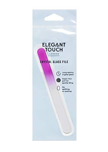 Elegant Touch–Lima de Uñas de cristal rosa