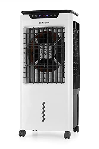 Orbegozo AIR 55 - Climatizador evaporativo 3 en 1, depósito de agua extraíble de 35 l, temporizador, gran caudal de aire, mando a distancia, silencioso, modo noche, 150 W