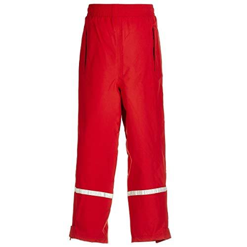 BMS atmungsaktive Regenbundhose für Kinder, rot, Größe 86