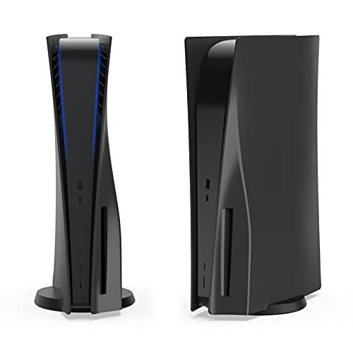 NexiGo PS5 Accesorios Placa frontal para PlayStation 5 Disc Edition, ABS antiarañazos, a prueba de polvo, placa de repuesto para PS5 Disc Edition (negro)