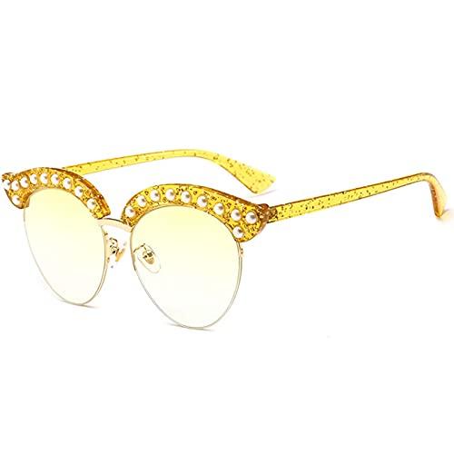 AMFG Gafas De Sol De Ojo De Gato Hombres Y Mujeres Conducción Gafas De Sol Street Shooting Decoration Business Outdoor Gafas (Color : F, Size : M)