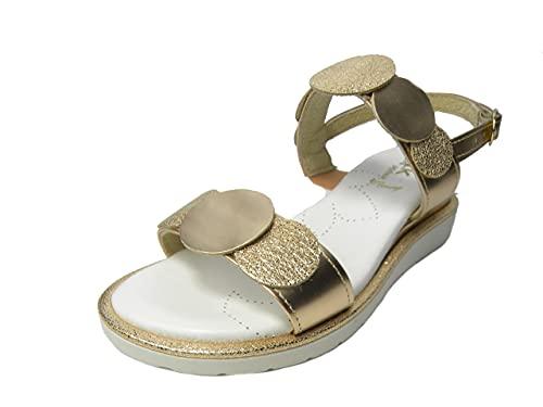 Melluso 03712A sandalo comodo donna con sottopiede imbottito (rame, numeric_39)