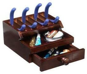 Desktop Tool Organizer Over item handling ☆ Jewelry Wood with New sales Craft Dr